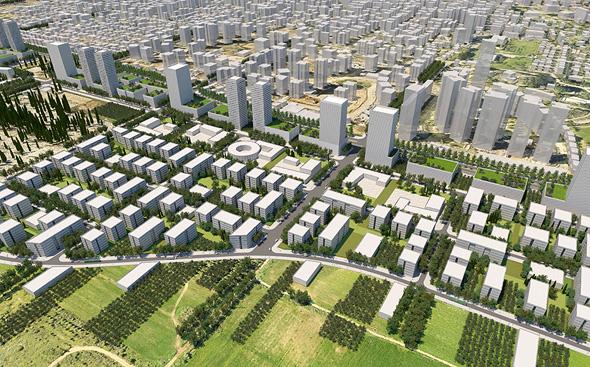 תוכנית מזרח רחובות. בתכנון הפרויקט הוקפד על יצירת המשכיות למרקם הקיים