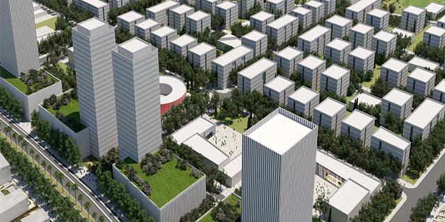 תוכנית מזרח רחובות 2 זירת הנדלן, הדמיה: מנדי רוזנפלד אדריכלים ודירה להשכיר