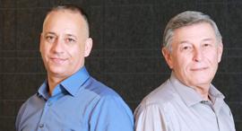 """מימין: ד""""ר שמואל פלדל וצחי גולן, צילום: דנה קופל"""