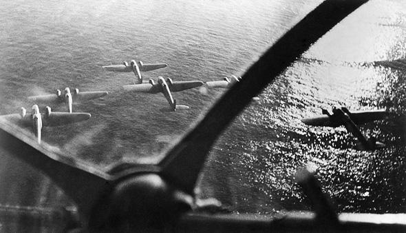 מפציצי היינקל HE111 גרמניים, צילום: גטי אימג