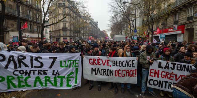 הפגנות בפריז, היום, צילום: אם סי טי