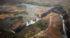 מפלי ויקטוריה מתייבשים דרום אפריקה, צילום: רויטרס