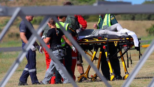 פינוי הפצועים בניו זילנד