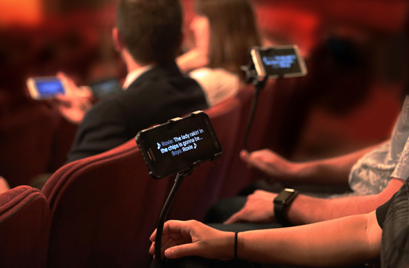 GalaPro app in use. Photo: GalaPrompter