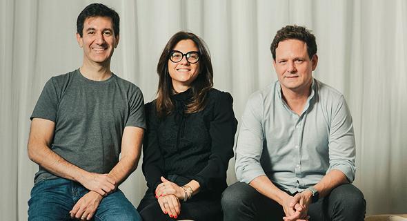משמאל: סקוט גלית, קרן לוי ודניאל סמדס, פיוניר, צילום: תומי הרפז