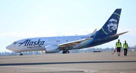 """בואינג 737 מטען של חברת אלסקה שהוסב על ידי התעשייה האווירית תע""""א, צילום: התעשייה האווירית"""
