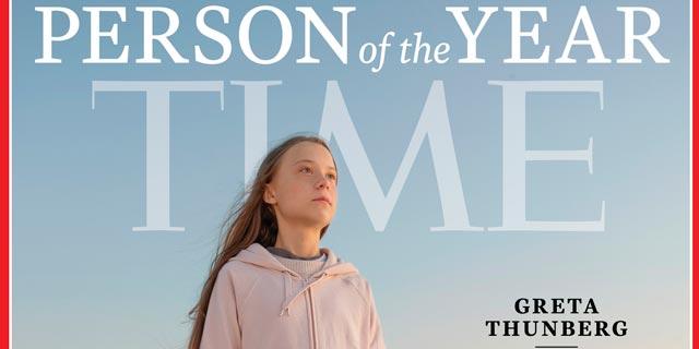 אשת השנה של מגזין טיים: פעילת האקלים גרטה טונברג