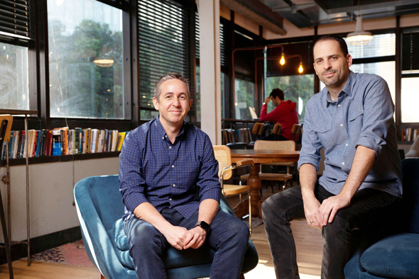 Mindspace co-founder Dan Zakai and Yotam Alroy. Photo: Avigail Uzi