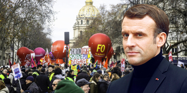 """השביתה הארוכה בצרפת מאז 1986: """"מקרון חי בבועה של עצמו"""""""