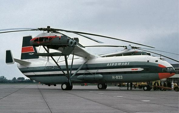 גוף של מטוס, ורוטורים עצומים. Mi12
