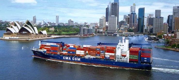סידני, אוסטרליה. עם אניית משא תגיעו לכל פינה בעולם, צילום: CMA CGM