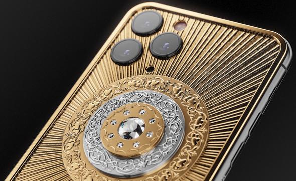 יהלום בן 3 קראט וציפוי זהב 18 קראט: אייפון של אוליגרכים, צילום: caviar