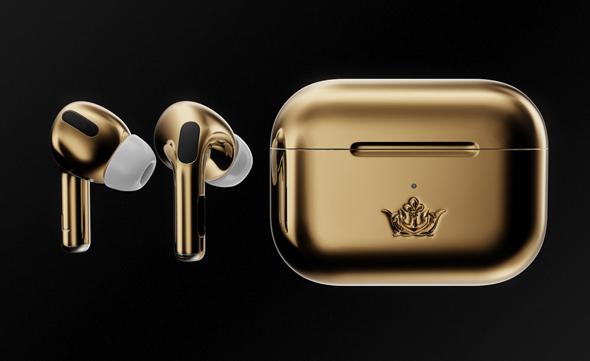 איירפודס מזהב כדי להשלים את הלוק של האייפון עם היהלום