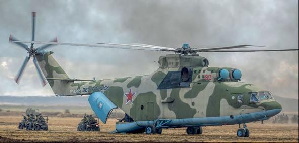 מסוק Mi26 פורק צוות קומנדו. ביכולתו לשאת פלוגת חיילים שלמה