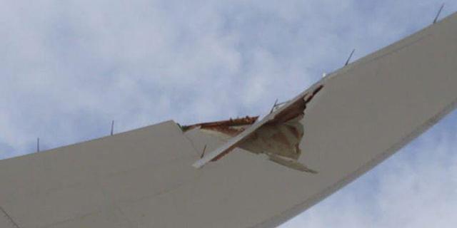 לאס וגאס: מטוס אל על הושבת לאחר שפגע בעמוד חשמל