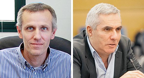 ראש רשות הגז אלכסנדר ורשבסקי ומנהל רשות החברות יעקב קווינט