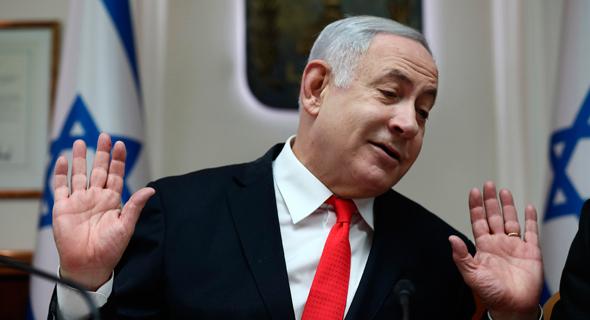 ראש הממשלה בנימין נתניהו. כמו חיה פצועה, צילום: אי.פי
