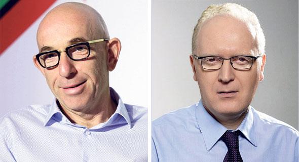 """מימין: סמנכ""""ל ההשקעות של אנליסט נועם רוקח ו מנכ""""ל פסגות ראובן קפלן, צילומים: אלון פורת, עמית שעל"""