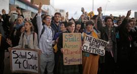 מפגינים ב מדריד ספרד התחממות גלובלית משבר האקלים, צילום: AP