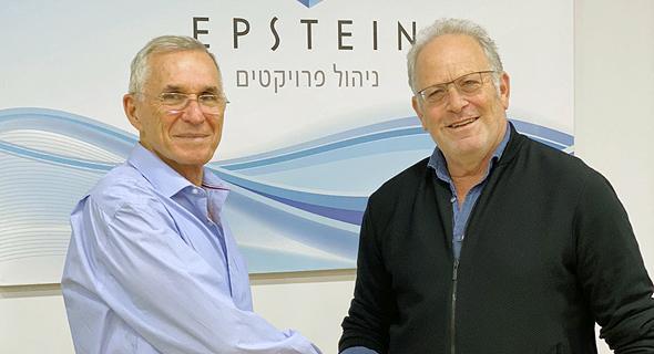 """מימין: עדי אייל, מנכ""""ל וואן טכנולוגיות ויואב סרנה, מנכ""""ל א. אפשטיין ובניו"""
