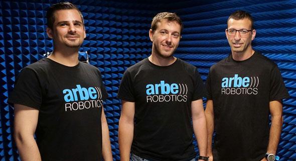 מייסדי Arbe. מימין: קובי מרנקו, נועם ארקינד ,עוז פיקסמן