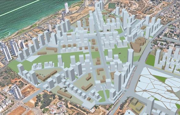 הדמיה מרכז עירוני חדש נתניה