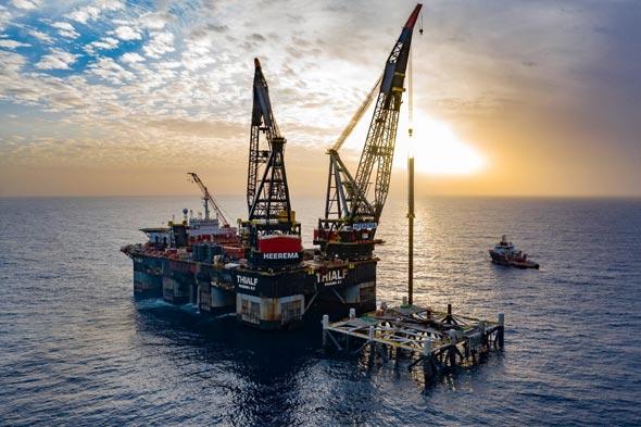קידוח גז אסדה אסדת גז לוויתן לווייתן נובל דלק 1, צילום: אלבטרוס