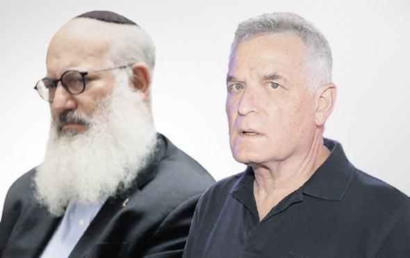 """מימין: יו""""ר פז אברהם ביגר ובעל השליטה בדסק""""ש אדוארדו אלשטיין, צילום: אוראל כהן, עמית שעל"""