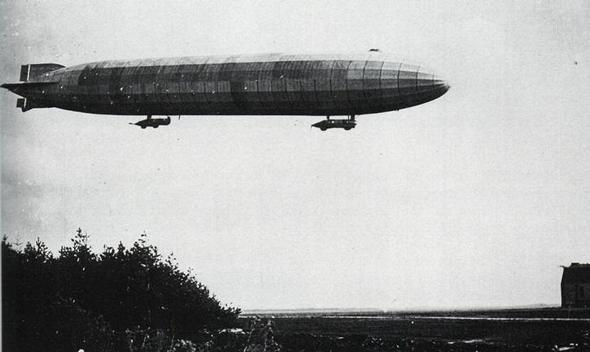 ספינת אוויר גרמנית מדגם צפלין P, שנועדה למשימות סיור והפצצה, צילום: Wikimedia
