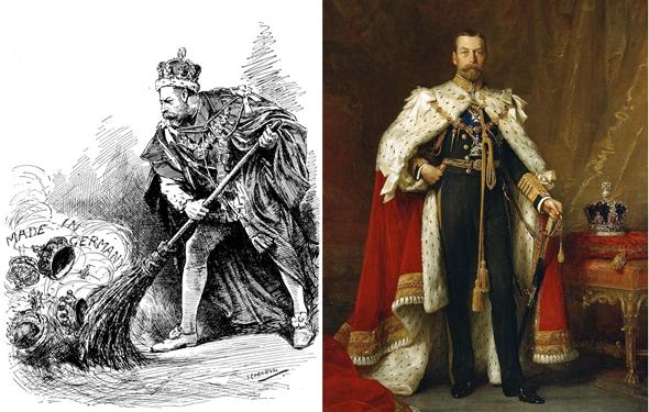 מימין: המלך ג