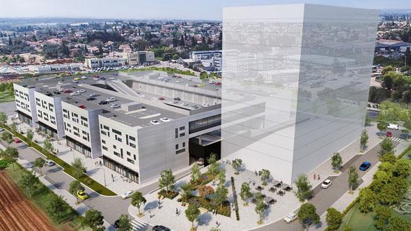 הדמיית הפרויקט. עלות הבנייה נאמדת ב־230 מיליון שקל