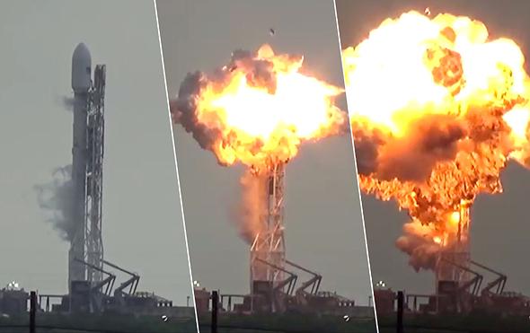 """רגע הפיצוץ של עמוס 6. """"אחד הפיצוצים המרהיבים שראיתי"""", צילום: Youtube"""