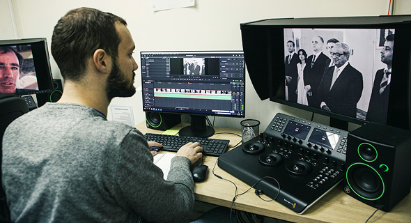 The digitization of the Israel Broadcasting Authority archive. Photo: Tomi Herpaz