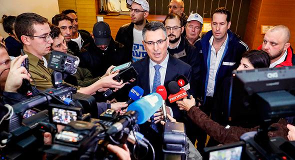 גדעון סער מסיבת עיתונאים פריימריס לרשות מפלגת הליכוד, צילום: איי אף פי