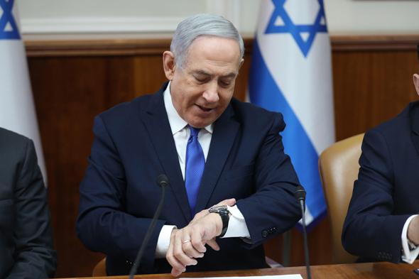 בנימין נתניהו ישיבת ממשלה 29.12.19, צילום: אי פי איי