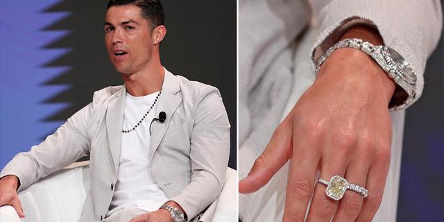 רונלדו מציג: תכשיטים ב-800 אלף דולר על יד אחת