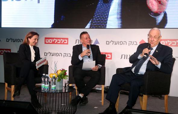 נשיא המדינה ראובן ריבלין בשיחה עם גלית חמי וצבי זרחיה, צילום: יריב כץ