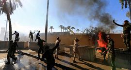 """שגרירות ארה""""ב בבגדד , צילום: רויטרס"""