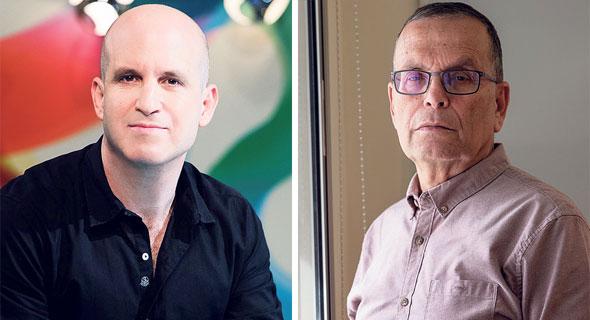 """מימין: מנכ""""ל הוועדה למדרוג רוני ארן ומנכ""""ל התאגיד אלדד קובלנץ"""