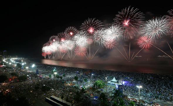 חגיגות בקופה קבנה ברזיל, צילום: גטי אימג