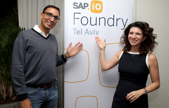 Orna Kleinmann, Managing Director of SAP R&D Center in Israel (right) & Ram Jambunathan, Head of Corporate Strategy at SAP (left). Photo: Itzik Biran