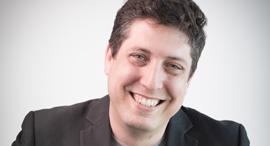 """ד""""ר דוד גולן מייסד שותף ומנהל הטכנולוגיות בסטרטאפ Viz.a, צילום: גיא פלג"""