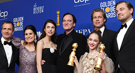 """צוות הסרט """"היו זמנים בהוליווד"""", צילום: אי פי איי"""