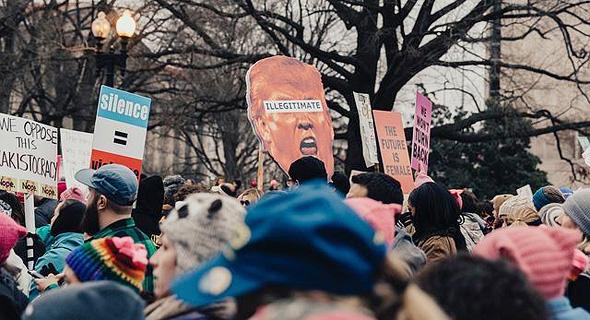 ארצות הברית חווה טלטלות פוליטיות פנימיות. הפגנה נגד הנשיא דונלד טראמפ