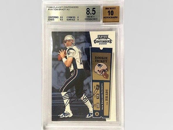 כרטיס משחק חתום טום בריידי 2000 איביי 400,100 דולר, צילום: eBay
