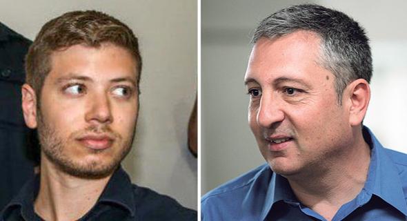 מימין ניר חפץ ו  יאיר נתניהו , צילום: יואב דודקביץ', עמית שעל, יריב כץ