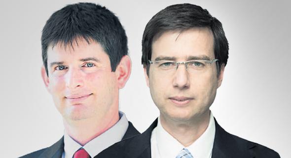 """מנכ""""ל בנק לאומי חנן פרידמן ומנכ""""ל ישראכרט רון וקסלר, צילומים: רון קדמי, סיון פרג'"""