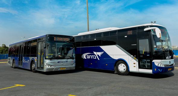 אוטובוס של דן בדרום. במקום השני, צילום: דן דרום