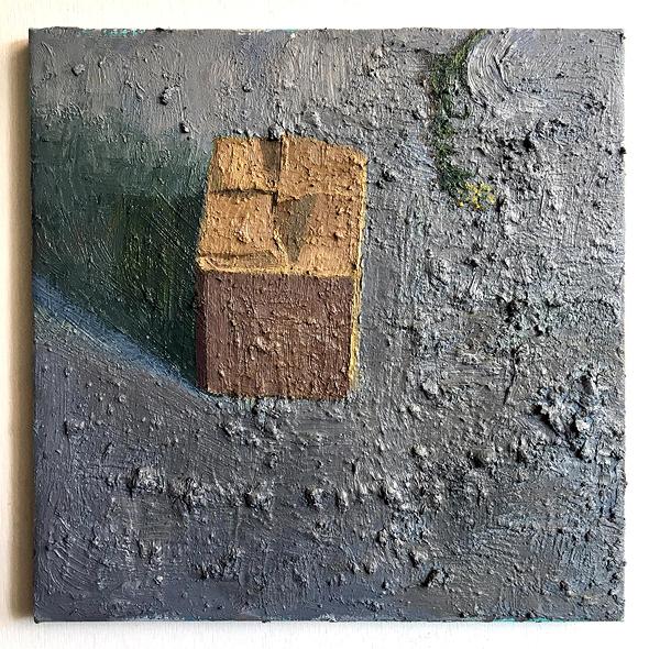 ציור של אביטל בורג. הקנבס נהפך לפסל