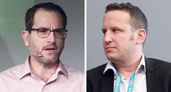 """מימין: אביעד הראל ממייסדי סייסנס, ומנכ""""ל החברה אמיר אורעד"""